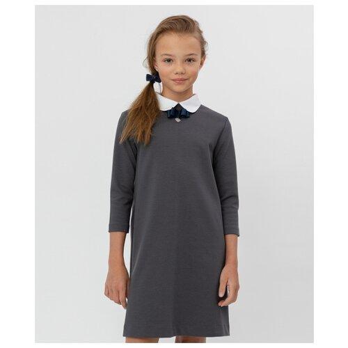 Платье Button Blue размер 140, серый платье button blue button blue bu019egjgw84