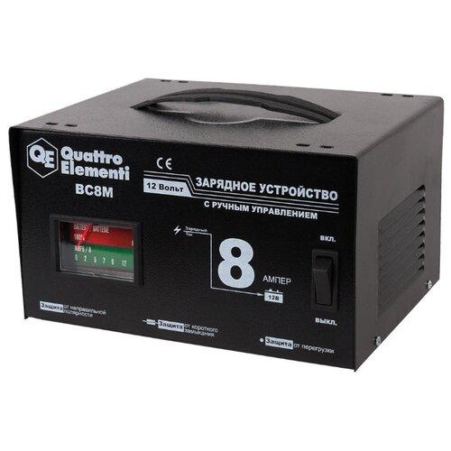 Зарядное устройство Quattro Elementi BC8M (770-087) черный зарядное устройство для автомобильных аккумуляторов quattro elementi energia 5000 li 641 107