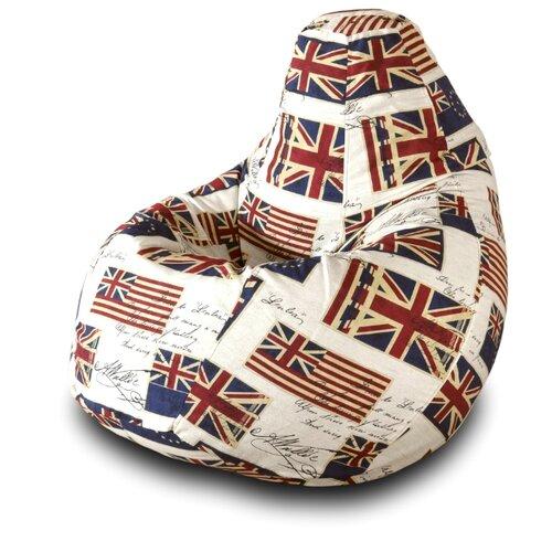 Фото - Пазитифчик кресло-груша Флаг 01 белый/синий/красный жаккард кресло мешок груша пазитифчик флаг 01