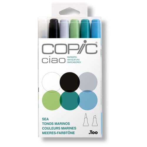 Купить COPIC набор маркеров Ciao Sea (H22075-669), 6 шт., Фломастеры