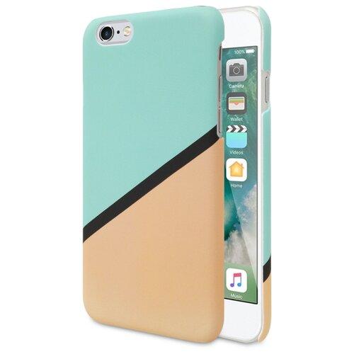 Чехол ANYLIFE Prism для Apple iPhone 6/iPhone 6S бирюзовый/бежевый
