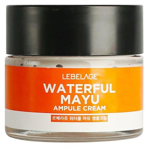 Фото - Lebelage Ampule Cream Waterful Mayu Увлажняющий ампульный крем для лица с лошадиным маслом, 70 мл lebelage крем для глаз waterful mayu eye cream 40 мл
