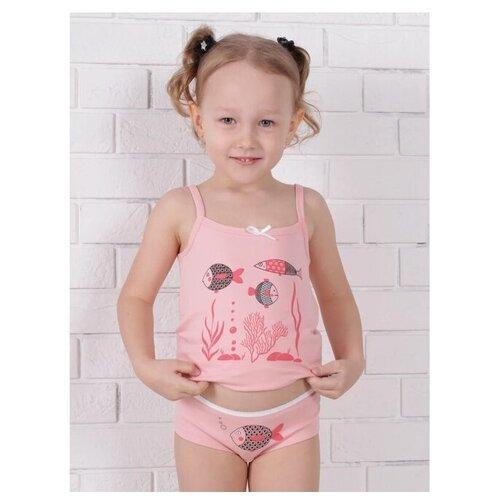 Комплект нижнего белья Jewel Style размер 92, розовый комплект нижнего белья ibala размер 30 92 98 белый розовый красный