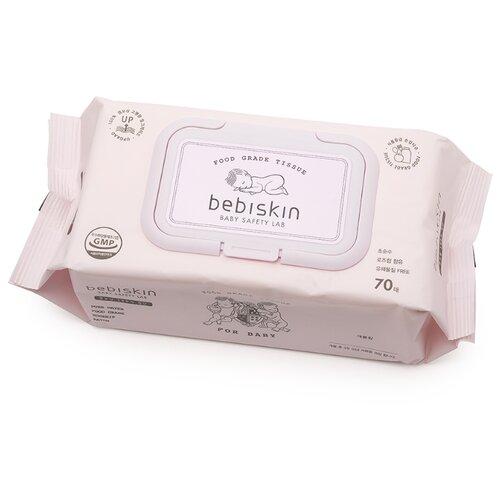 Влажные салфетки Bebiskin Food Grade Tissue Premium пластиковая крышка 70 шт.