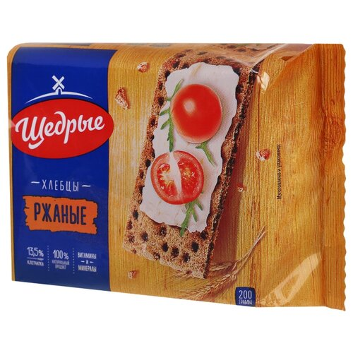 Хлебцы ржаные Щедрые 200 г