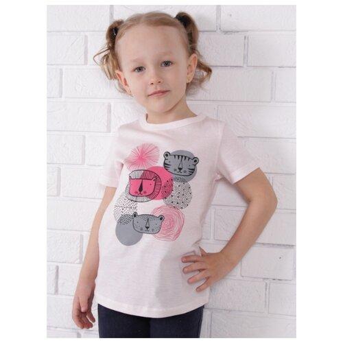 Купить Футболка Jewel Style размер 110, светло-розовый, Футболки и майки