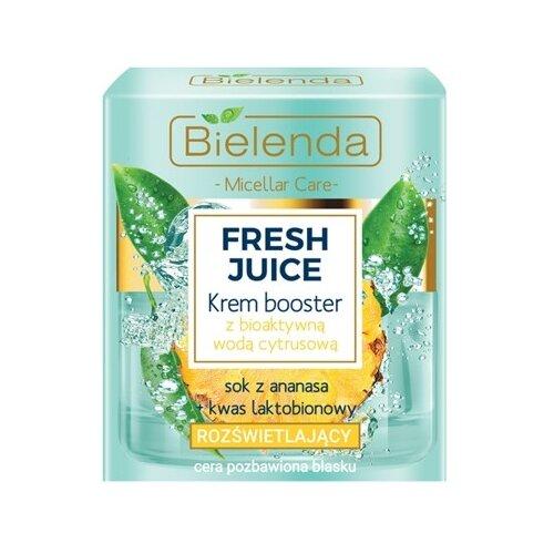 Купить Bielenda Fresh Juice Krem Booster Увлажняющий крем с биоактивной цитрусовой водой Ананас, 50 мл