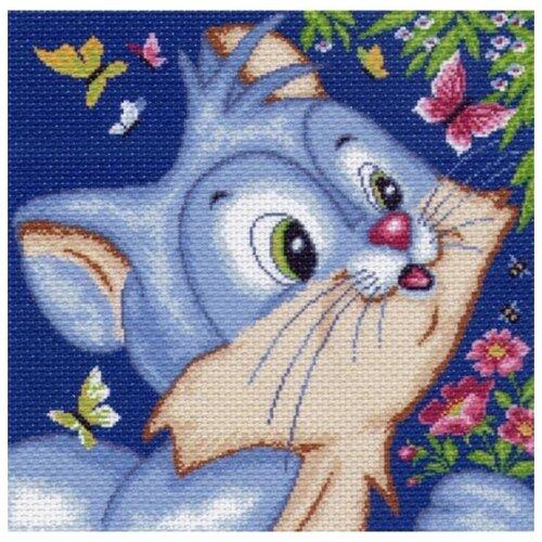 голубая фантазия набор для вышивания бисером 41х41 34х34 матренин посад 0153 б Кот Набор для вышивания крестом 41х41 (34х34) Матренин Посад 1083/Н