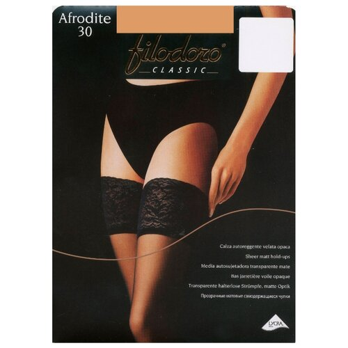 Чулки Filodoro Classic Afrodite 30 den, размер 4-L, nero (черный) чулки filodoro classic afrodite 30 den размер 4 l nero черный