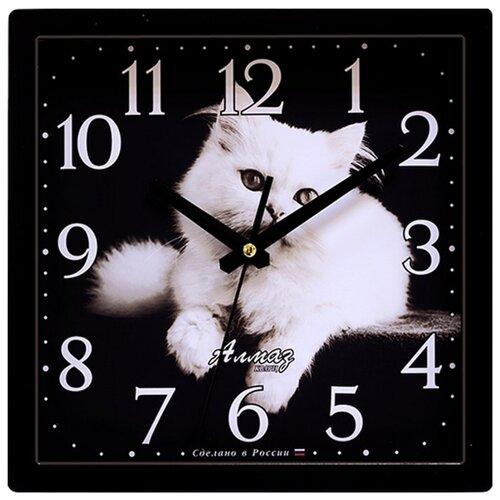 Часы настенные кварцевые Алмаз K71 черный