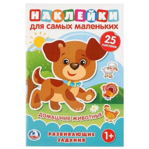 Купить Книга с наклейками Домашние животные , Умка, Книжки с наклейками