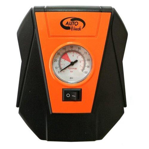 Автомобильный компрессор AUTOVIRAZH AV-010153 черный/оранжевый