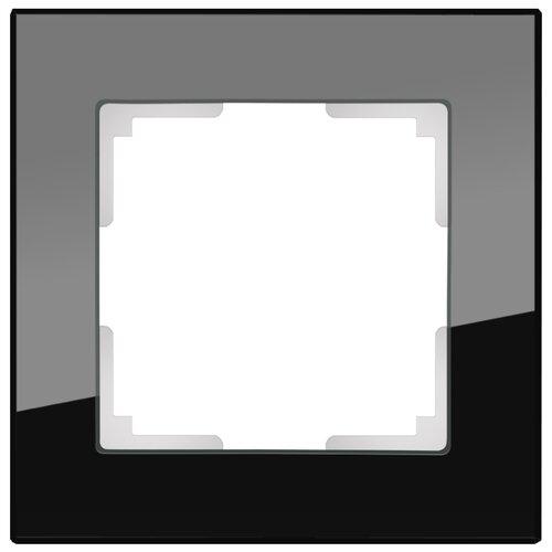 Рамка 1п Werkel WL01-Frame-01, черный рамка 1п werkel wl01 frame 01 dbl белый