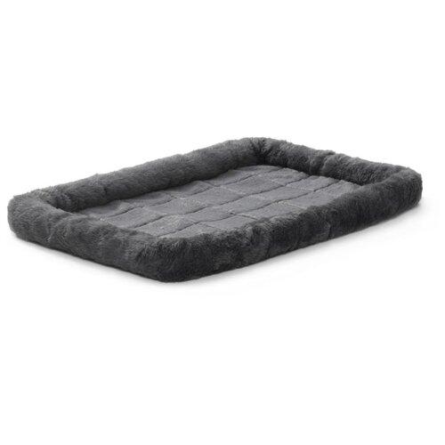Лежак для собак и кошек Midwest QuietTime Faux Fur Deluxe Bolster 61х46х8 см gray