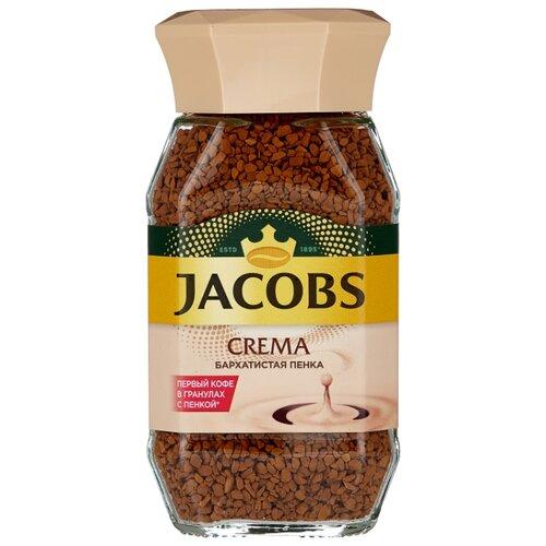 Кофе растворимый Jacobs Crema с пенкой, стеклянная банка, 95 г