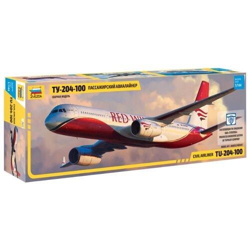 Сборная модель ZVEZDA Пассажирский авиалайнер Ту-204-100 (7023) 1:144 сборная модель zvezda бригантина 9011 1 100