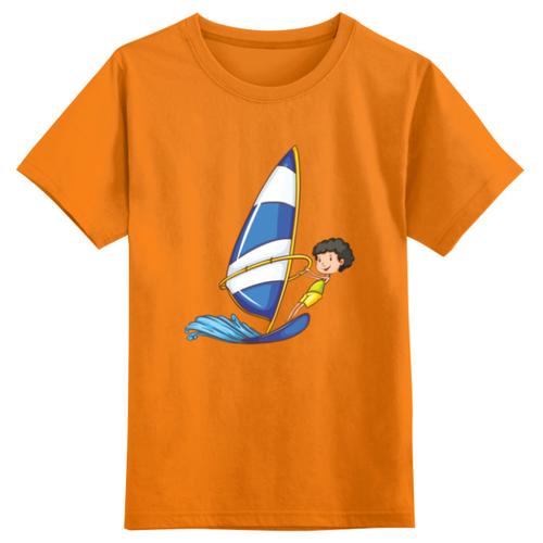 Футболка Printio размер 3XS, оранжевый