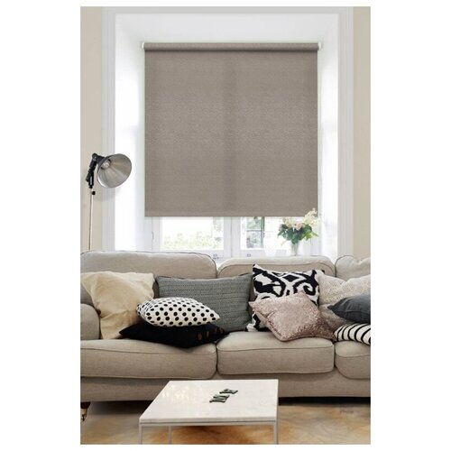 Рулонная штора Эскар Морзе (коричневый), 140х160 см рулонная штора эскар морзе экрю 140х160 см
