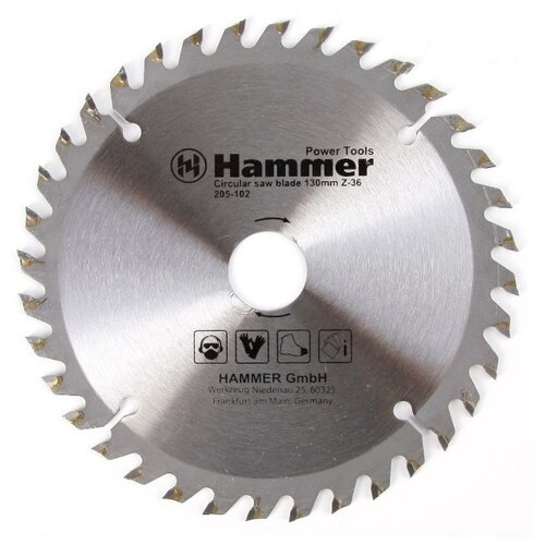 Пильный диск Hammer Flex 205-102 CSB WD 130х20 мм пильный диск hammer flex 205 106 csb wd 165х30 мм