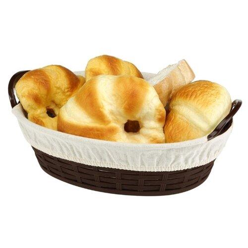 Корзинка для хлеба Bora Plastik BO664 коричневый
