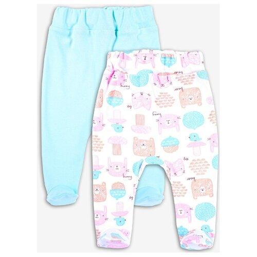 штанишки для мальчика веселый малыш one цвет голубой 33150 one c 1 размер 68 Ползунки Веселый Малыш размер 68, розовый/голубой