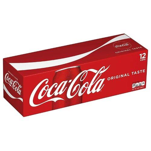 Газированный напиток Coca-Cola Classic, США, 0.355 л, 12 шт. газированный напиток coca cola vanilla сша 0 355 л 12 шт