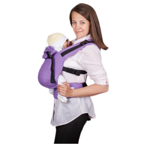 Купить Май-слинг СлингУля Черника текстура фиолетовый, Слинги и накидки для кормления