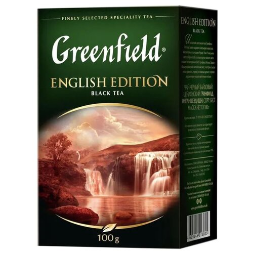 Чай черный Greenfield English Edition, 100 г greenfield english edition черный листовой чай 100 г