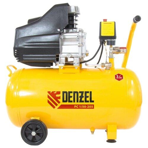 Компрессор масляный Denzel PC 1/50-205, 50 л, 1.5 кВт компрессор масляный denzel oc 1 24 206 24 л 1 5 квт