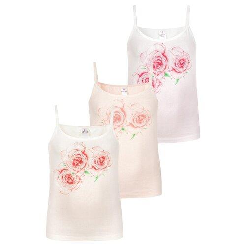 Купить Майка BAYKAR 3 шт., размер 146/152, молочный/персиковый/розовый, Белье и купальники