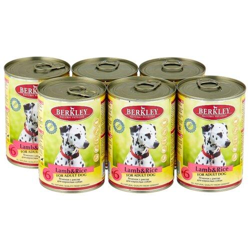 Фото - Влажный корм для собак Berkley (0.4 кг) 6 шт. Паштет для собак. Новозеландский ягненок с рисом 6шт. х 400г влажный корм для собак berkley 0 4 кг 6 шт паштет для собак оленина с коричневым рисом 6шт х 400г