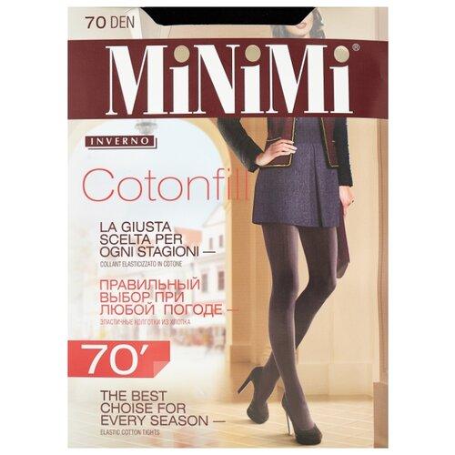 Фото - Колготки MiNiMi Cotonfill, 70 den, размер 2-S/M, nero (черный) колготки minimi elegante 40 den размер 2 s m nero черный
