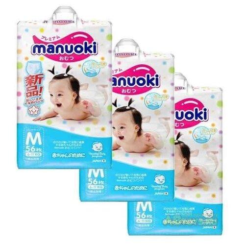 Купить Manuoki трусики М (6-11 кг) 168 шт., Подгузники