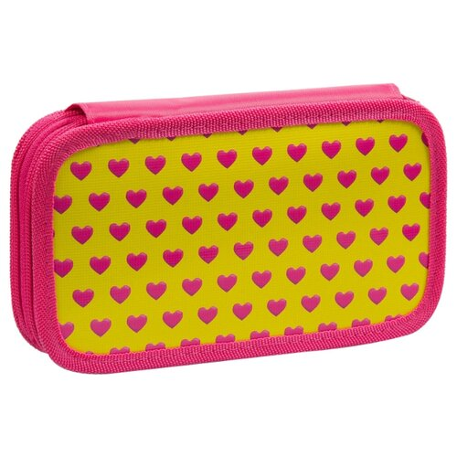 Купить ArtSpace Пенал Сердца (ПК11-20_ПО-090_25464) розовый/желтый, Пеналы