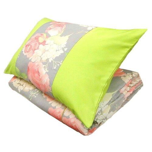 Комплект с покрывалом Altali Hydrangea 240 х 240 см + 2 наволочки (P578-8276/2), серый / зеленый