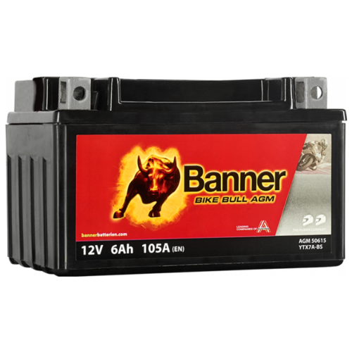 Мото аккумулятор Banner Bike Bull AGM 506 15 / YTX7A-BS delta акб delta moto ct 1207 agm ytx7a bs 7ач п п