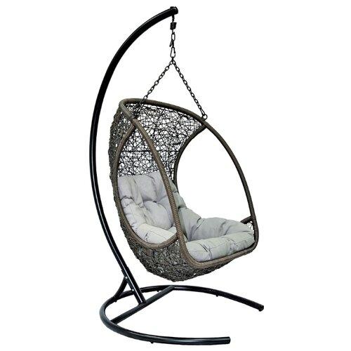 Подвесное кресло ЭкоДизайн Albatros, коричневый/серый/черный