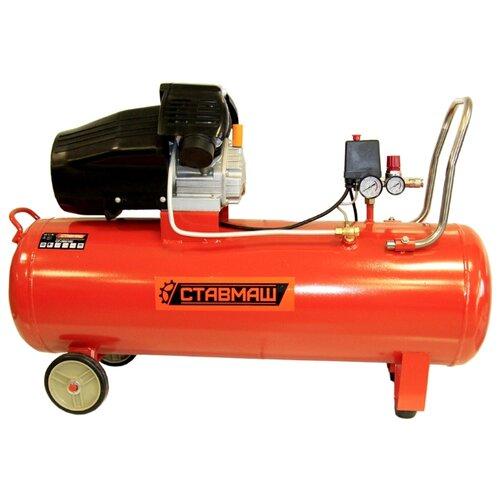 Компрессор масляный Ставмаш СР-360/100, 100 л, 3.5 кВт компрессор масляный elitech кпм 360 25 25 л 2 2 квт