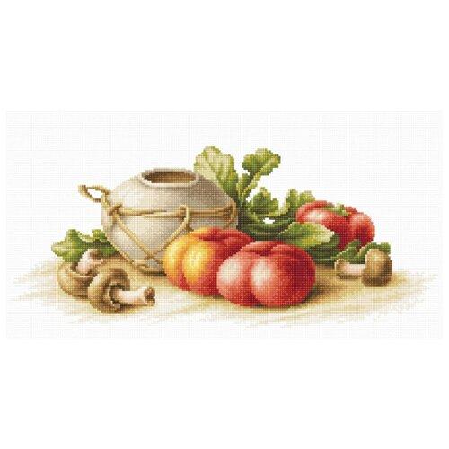 Купить Luca-S Набор для вышивания Натюрморт с овощами, 40.5 x 17 см, (B2249), Наборы для вышивания