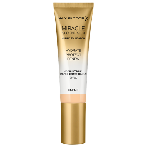Max Factor Тональный крем Miracle Touch Second Skin, 30 мл, оттенок: 01 fair