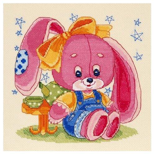 Купить Hobby & Pro Набор для вышивания Зайка 21 х 21 см (709), Наборы для вышивания