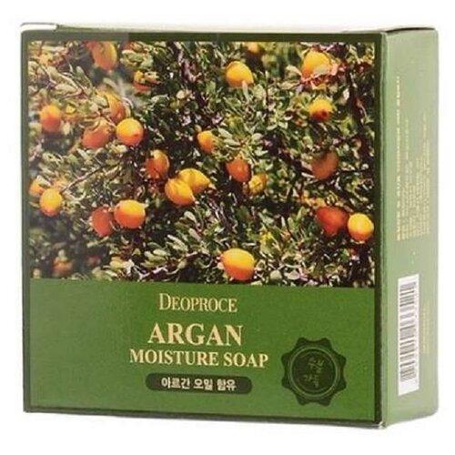 Фото - Мыло кусковое Deoproce с аргановым маслом, 100 г мыло кусковое кедровое с льняным маслом аю дух леса 115 г