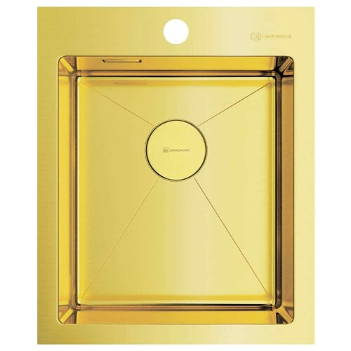 Фото - Интегрированная кухонная мойка 41 см OMOIKIRI Akisame 41-LG светлое золото врезная кухонная мойка 46 см omoikiri akisame 46 lg 4973081 светлое золото
