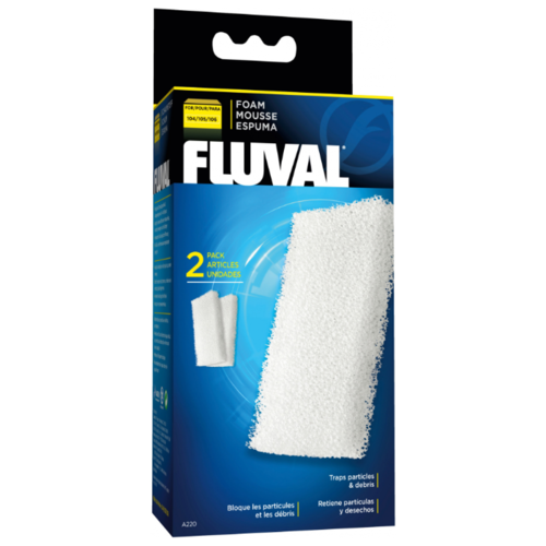 Fluval картридж A220 (комплект: 2 шт.) белый fluval картридж fx5 6 carbon impregnated foam pad комплект 2 шт черный