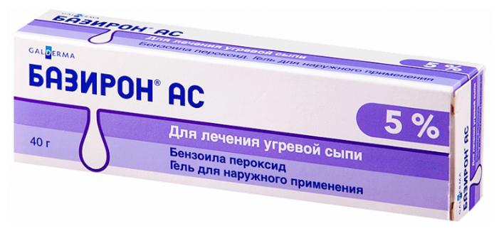 Базирон АС гель д/нар. прим. 5% 40 г