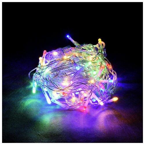 Гирлянда Vegas Бахрома световая постоянное свечение (300 х 60 см), 72 ламп, разноцветный/прозрачный провод недорого