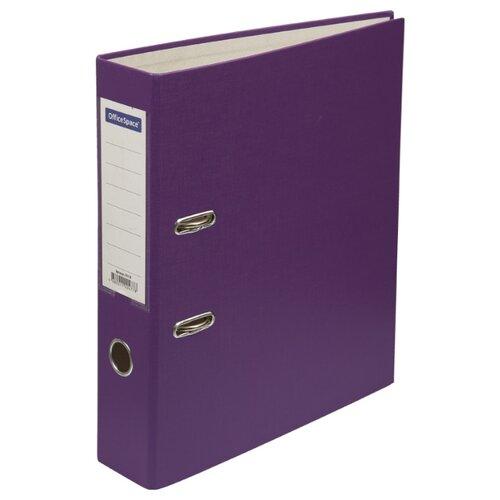 Купить OfficeSpace Папка-регистратор с карманом на корешке A4, бумвинил, 70 мм фиолетовый, Файлы и папки