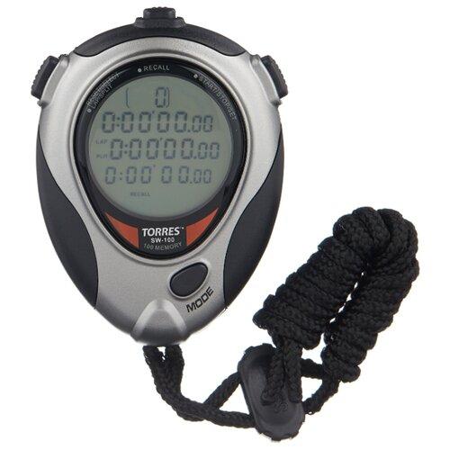 Электронный секундомер TORRES SW-100 серебристый/черный