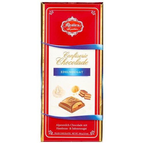 набор конфет reber constanze mozart kugeln с ореховым пралине 120 г Шоколад Reber Молочный Nougat с ореховым пралине, 100 г