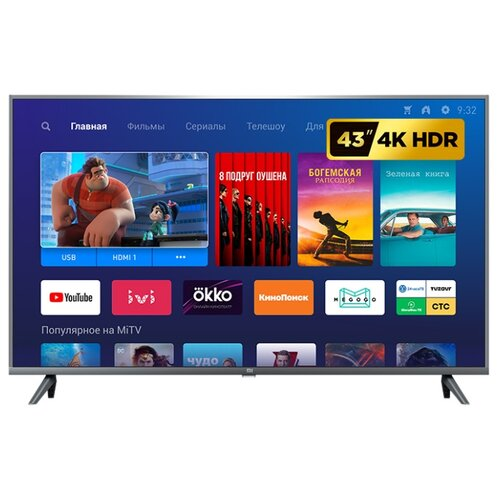 Фото - Телевизор Xiaomi Mi TV 4S 43 T2 42.5 (2019), темный титан телевизор lg 50un80006 50 2020 темный титан